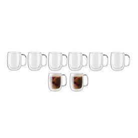8 Piece Glass Coffee Set
