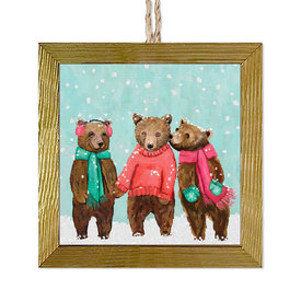 Woodland Winter Bears Ornament