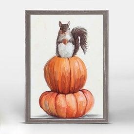 Autumn Squirrel Mini Canvas