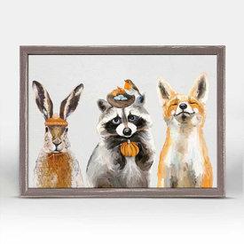 Thankful Raccoon and Pals Mini Canvas