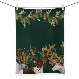 Flora & Fauna - Antlers Abound, Tea Towel