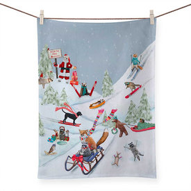 Holiday - Winter Fun For Everyone, Tea Towels