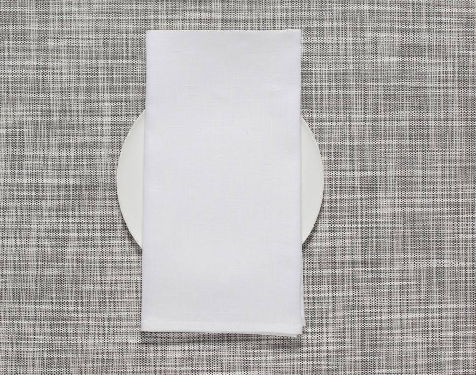 Chilewich Square Linen Napkin in White