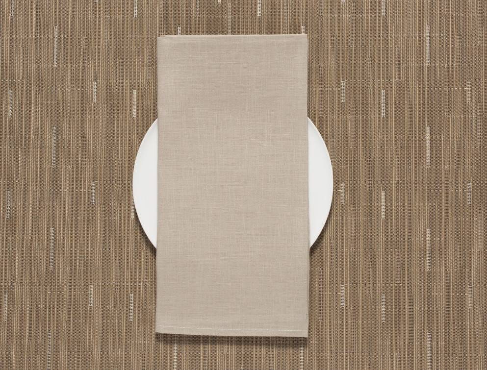 Chilewich Square Linen Napkin in Flax