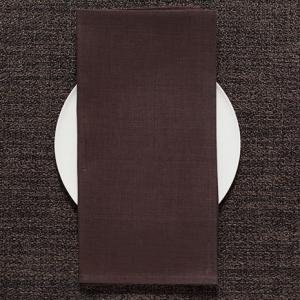 Chilewich Square Linen Napkin in Mocha