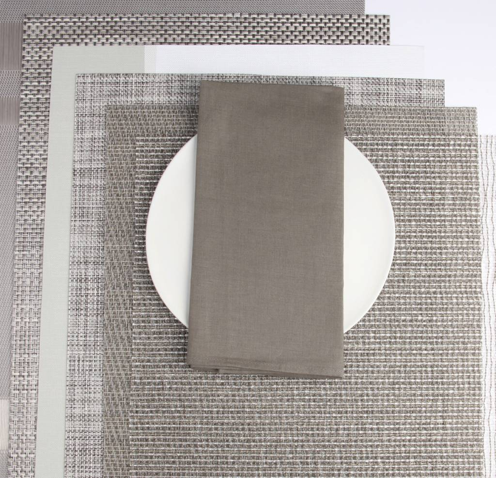 Chilewich Square Linen Napkin in Stone