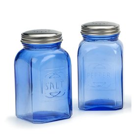 Retro Salt & Pepper Shakers Blue