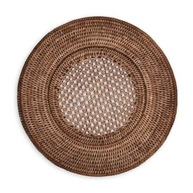 Rattan Round Charger Plate