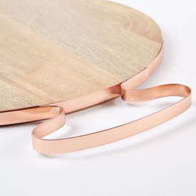 Cheese Board with Copper Handle