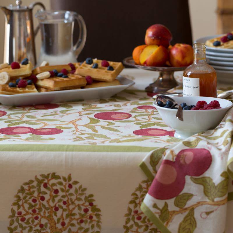 French Tablecloth Orange Tree