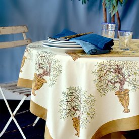 French Tablecloth Olive Tree