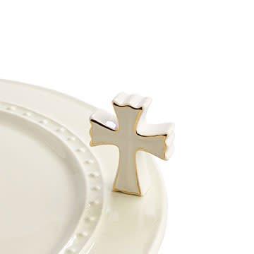 Nora Fleming Mini White Cross