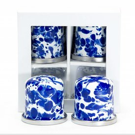Cobalt Swirl Salt & Pepper