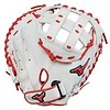 "Mizuno Mizuno GXS50PSE7 MVP Prime SE softball catcher 34"" RHT WHITE/RED"