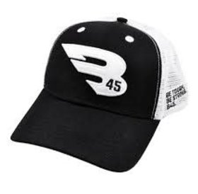 B45 B45 Trucker Hat Black/white