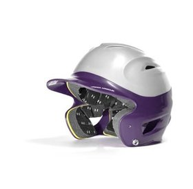 Under Armour Under Armour OSFA Batting Helmet 2 tone silver and purple
