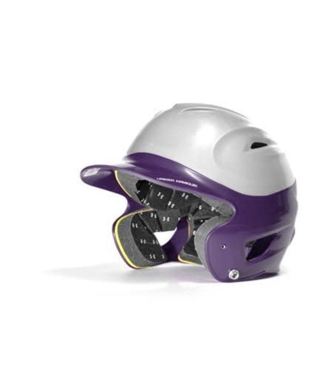Under Armour Under Armour OSFA Batting Helmet 2 tone silver and purple