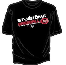 Authentic t-shirt company T-Shirt dry fit avec logo Cimes en serigraphie