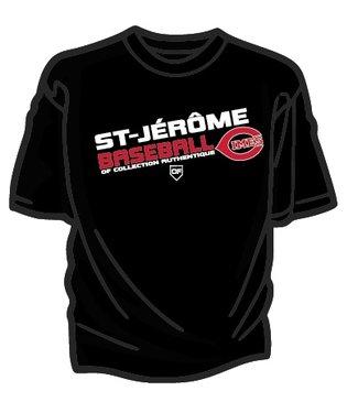 Authentic t-shirt company T-Shirt dry fit avec logo Cimes en serigraphie OFT-CI-BK