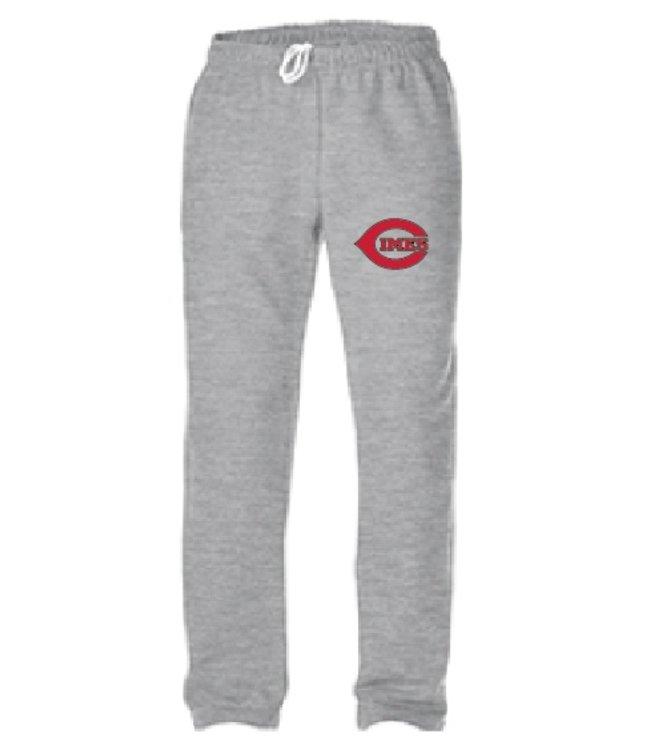 Authentic t-shirt company Pantalons jogging Authentic gris 100% cotton avec logo Cimes en serigraphie - OFJ-CI-GY