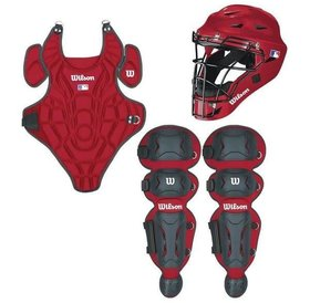Wilson Wilson EZ Catcher gear Kit S/M ages 5-7 scarlet