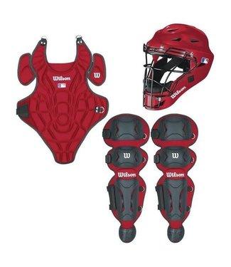 Wilson Wilson EZ Catcher gear Kit S/M ages 5-7 scarlet