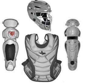 All Star All Star Vela Pro Fastpitch 14.5'' Catcher Set silver