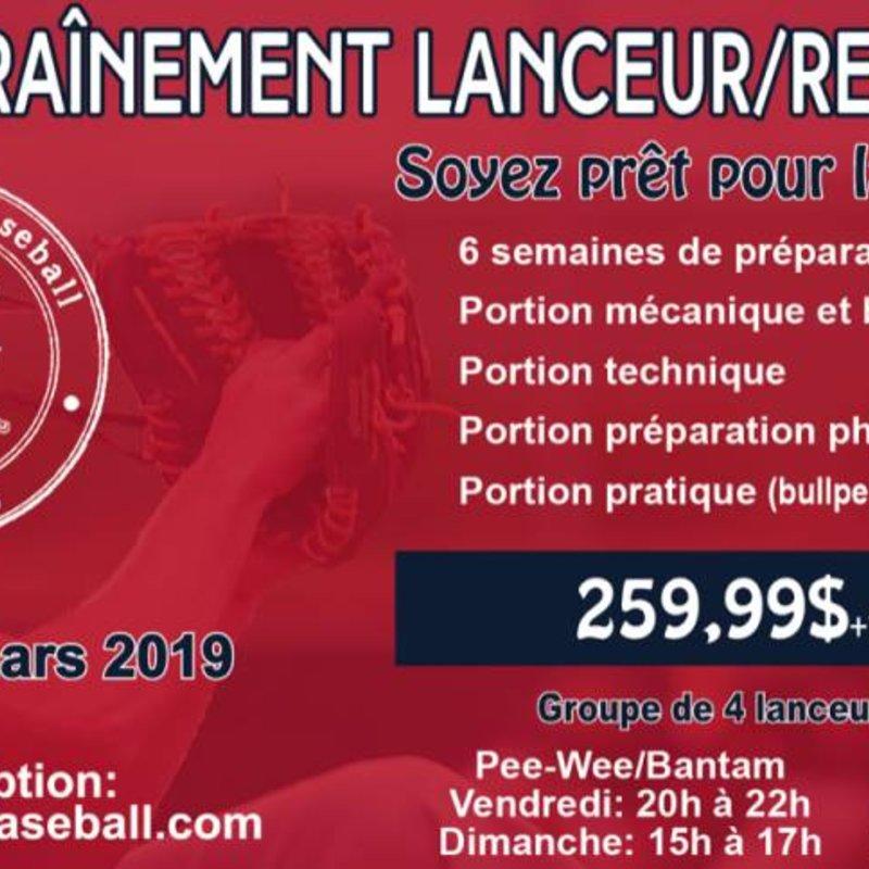 Programme Camp d'entrainement de lanceur/receveur 2019 moustique (2008-2009)