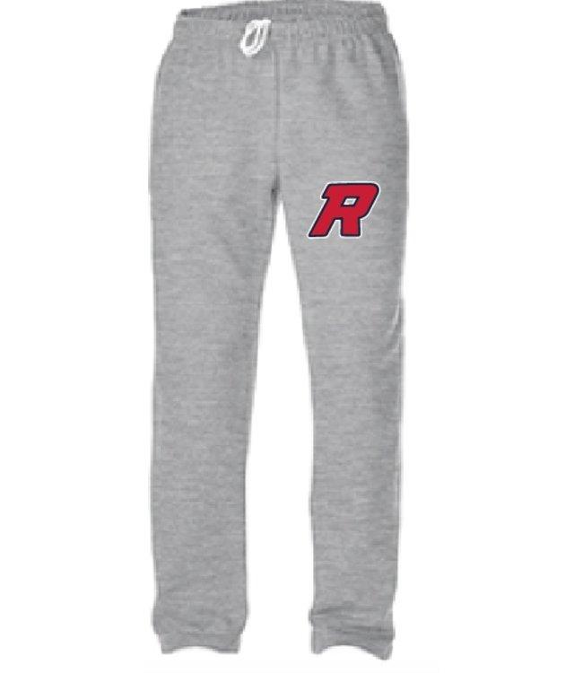 Authentic t-shirt company Pantalons jogging Authentic gris 100% cotton avec logo Royaux en serigraphie - OFJ-RO-GY