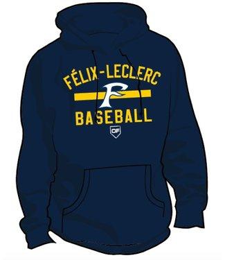 Authentic t-shirt company Kangourou On Field Authentic Félix-Leclerc Baseball bleu marine