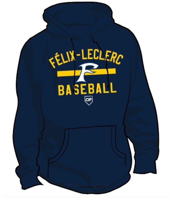Authentic t-shirt company Kangourou On Field Authentic Félix-Leclerc Baseball bleu marine - OFK-FL-NY