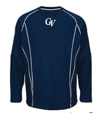 Majestic Fleece Majestic bleu marine avec logo GV brode