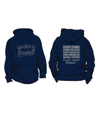 Authentic t-shirt company Kangourou Authentic Maman Baseball Felix-Leclerc bleu marine