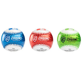Franklin Franklin MLB® 9'' rubber soft teeball Chrome 3pk