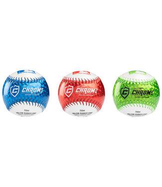 Franklin Franklin MLB® 9'' rubber soft teeball Chrome 3pk