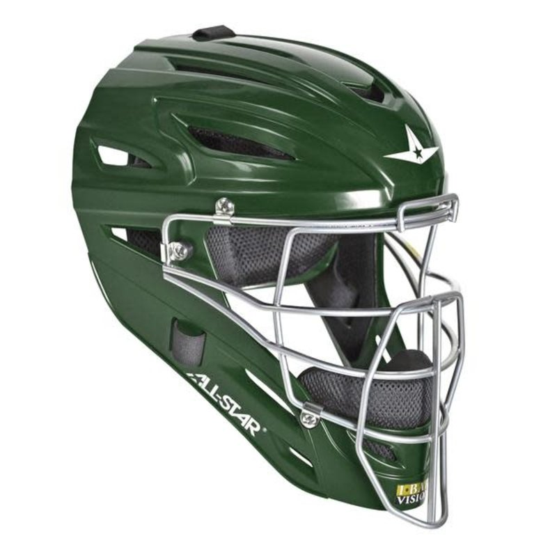 All Star All-Star MVP2500 dark green catcher helmet