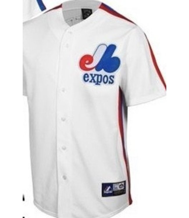 Majestic Majestic Cooperstown collection Montreal Expos white jersey