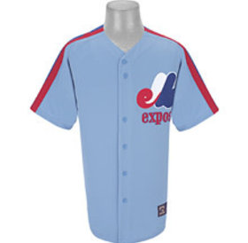 Majestic Majestic - Expos blank columbia blue player replica jersey