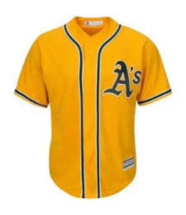 Majestic Majestic Oakland A's yellow Replica jersey xxxlarge