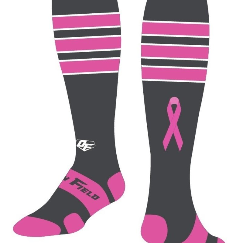 On Field On Field custom socks grey and pink