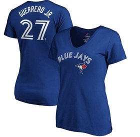 Majestic Majestic women vneck T-Shirt Toronto Blue Jays Vladimir Guerrero JR