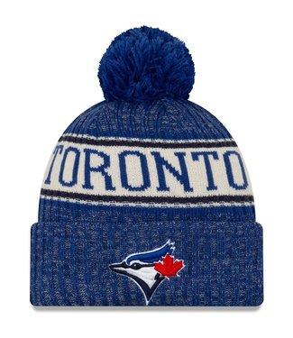 New Era New Era Men's Toronto Blue Jays Royal Primary Logo Sport Cuffed Knit Hat with Pom
