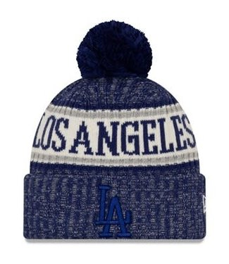 New Era New Era Men's Los Angeles Dodgers Primary Logo Sport Cuffed Knit Hat with Pom