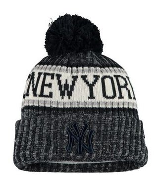 New Era New Era Men's New York Yankees Primary Logo Sport Cuffed Knit Hat with Pom