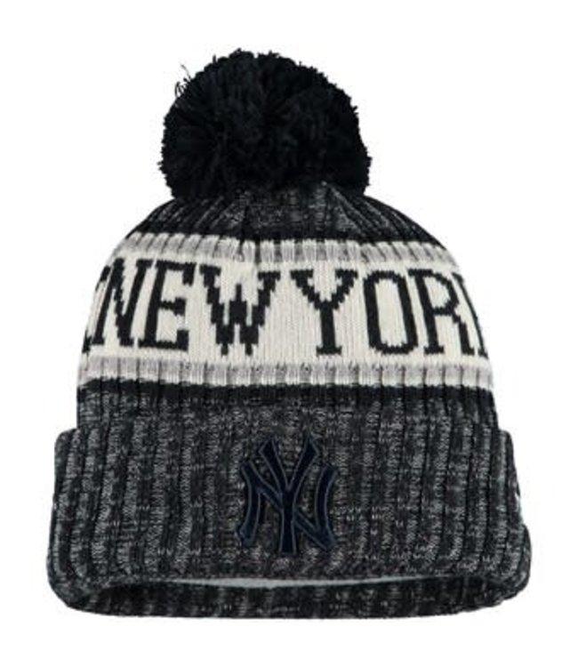 New Era New Era Men's New York Yankees Primary Logo Sport Cuffed Knit Hat with Pom