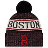 New Era New Era Men's Boston Red Sox Primary Logo Sport Cuffed Knit Hat with Pom
