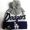 New Era New Era Men's Los Angeles Script Knit Hat whit pom