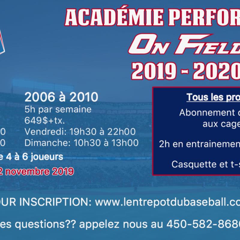 Academie hivernale de baseball performance EDB-On Field 2011 à 2013