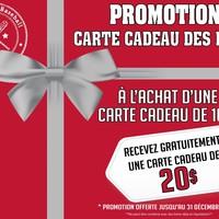 Promotion Carte cadeau des Fêtes