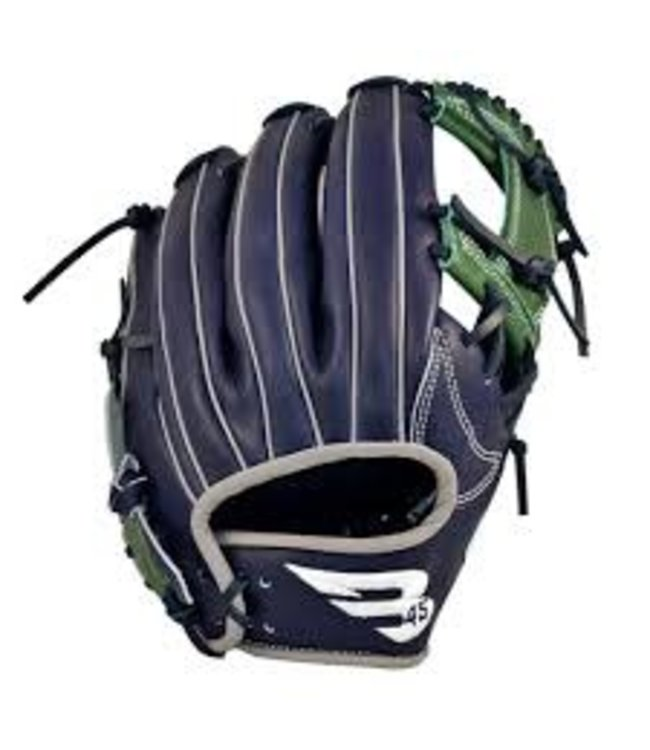 B45 B45 15e Anniversaire Diamond Series Infield Glove Navy-Green RHP 11.75''